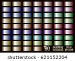 set of 60 colored gradients ... | Shutterstock .eps vector #621152204
