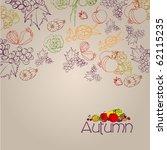 elegant autumn illustrated... | Shutterstock . vector #62115235