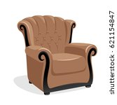 classic leather armchair... | Shutterstock . vector #621154847