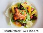 a delicious non vegetarian... | Shutterstock . vector #621156575