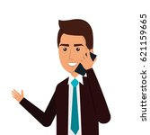 businessman avatar with... | Shutterstock .eps vector #621159665