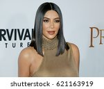 kim kardashian west at the los... | Shutterstock . vector #621163919