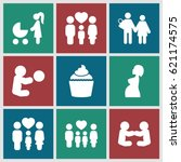 mom icons set. set of 9 mom...   Shutterstock .eps vector #621174575