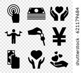hold icons set. set of 9 hold... | Shutterstock .eps vector #621179684