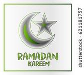 ramadan kareem poster with... | Shutterstock .eps vector #621181757