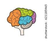 colo brain idea innovation | Shutterstock .eps vector #621185465