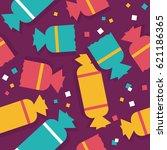 festive confetti  colorful... | Shutterstock .eps vector #621186365