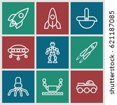 future icons set. set of 9... | Shutterstock .eps vector #621187085