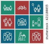 father icons set. set of 9... | Shutterstock .eps vector #621188855