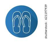 flip flops flat linear long... | Shutterstock .eps vector #621197939
