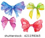 watercolor hand drawn set of... | Shutterstock . vector #621198365