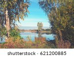 autumn landscape.beautiful... | Shutterstock . vector #621200885