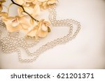 pearl and yellow orchid on... | Shutterstock . vector #621201371