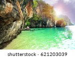 tropical holidays   amazing... | Shutterstock . vector #621203039