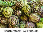 Stall With Artichokes On Marke...
