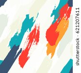 seamless oil painting vector... | Shutterstock .eps vector #621207611