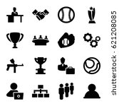 team icons set. set of 16 team... | Shutterstock .eps vector #621208085