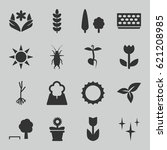 spring icons set. set of 16... | Shutterstock .eps vector #621208985