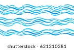 blue wave patterns. set of... | Shutterstock .eps vector #621210281