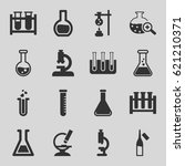 lab icons set. set of 16 lab... | Shutterstock .eps vector #621210371