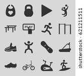 active icons set. set of 16... | Shutterstock .eps vector #621211511
