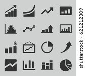 graph icons set. set of 16... | Shutterstock .eps vector #621212309
