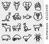 wild icons set. set of 16 wild... | Shutterstock .eps vector #621221435