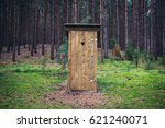 Outhouse in forest  dziemiany...