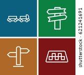 traffic icons set. set of 4... | Shutterstock .eps vector #621241691