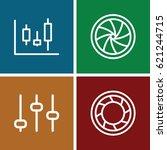 technique icons set. set of 4... | Shutterstock .eps vector #621244715