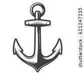 monochrome anchor vector... | Shutterstock .eps vector #621247235