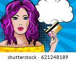 pretty beautiful young women... | Shutterstock .eps vector #621248189