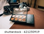 professional make up tools. a... | Shutterstock . vector #621250919