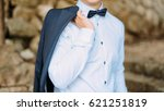 the bow tie. close the frame.... | Shutterstock . vector #621251819