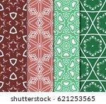 set of geometric pattern in...
