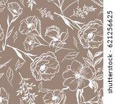 art vintage graphic floral... | Shutterstock .eps vector #621256625