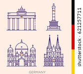 sights of germany  icons of... | Shutterstock .eps vector #621257711