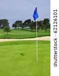 Golf Flag On Green  Room For...