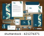 vector abstract stationery... | Shutterstock .eps vector #621276371
