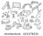 playground toy doodle isolated... | Shutterstock .eps vector #621278231