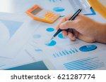 business man working at office... | Shutterstock . vector #621287774