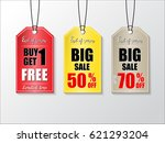 sale tag design collection with ... | Shutterstock .eps vector #621293204