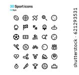 sport vector icons | Shutterstock .eps vector #621293531