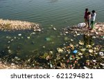 environmental issues in india....   Shutterstock . vector #621294821