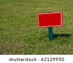 The Empty Sign On Grass