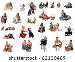 composite picture with people...   Shutterstock . vector #62130469