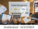marketing plan achievement...   Shutterstock . vector #621315824