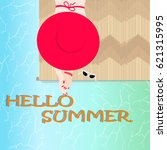 hello summer | Shutterstock .eps vector #621315995
