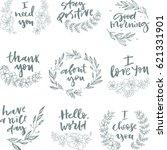 set of wedding elements. for... | Shutterstock .eps vector #621331901