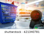 supermarket checkout counter ... | Shutterstock . vector #621340781